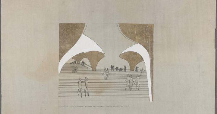 Competition drawings by Jørn Utzon